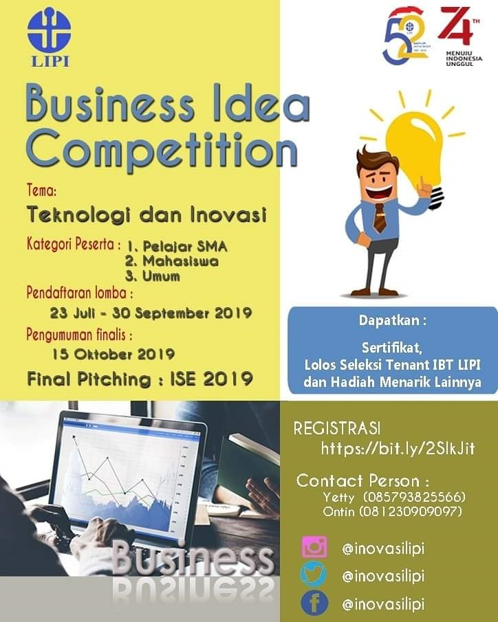 Ayo Berkompetisi dalam BUSINESS IDEA COMPETITION